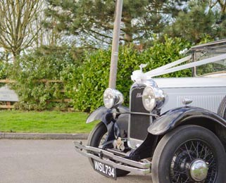 Arriving at Longueville Hall in Ellen, our most recently restored vintage car Photo by Just-Shoot-Me Photography - http://www.just-shoot-me.co.uk